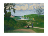 River Landscape with Two Figures, 1918 Giclee Print by Felix Vallotton
