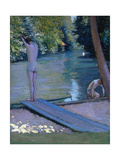 Bathers on the Banks of the River Yerres Giclee Print by Gustave Caillebotte