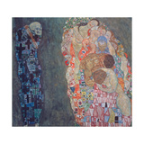 Death and Life, Completed in 1916 Gicléedruk van Gustav Klimt