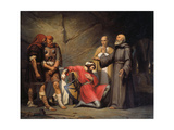 The Conversion of Robert, Duke of Normandy, known as Robert the Devil, 1841 Giclee Print by Guillaume-Alphonse Cabasson