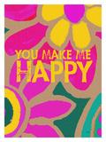 You Make Me Happy Giclee Print by Lisa Weedn