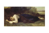 Young Woman Resting, 1880 Prints by William Adolphe Bouguereau