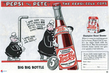 """Pepsi and Pete"" The Pepsi Cola Cops Cartel de plástico"