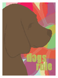 Dogs Rule 2 Giclee Print by Lisa Weedn