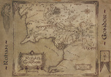 Lord of the Rings - Rohan and Gondor Map Poster
