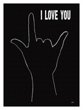 I Love You (Hand Sign Giclee Print by Lisa Weedn