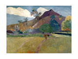 Mountain on Tahiti, 1893 Giclee Print by Paul Gauguin