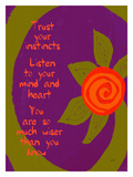 Trust Your Instincts Giclee Print by Lisa Weedn