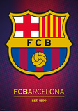 Barcelona - Crest Metallic Foil Poster Prints