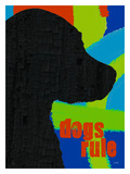 Dogs Rule Giclee Print by Lisa Weedn
