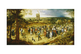 A Wedding Procession Giclee Print by Pieter Bruegel the Elder
