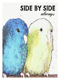 Side By Side Always Giclee Print by Lisa Weedn