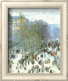 Boulevard des Capucines, c.1873 Plakat af Claude Monet