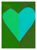 Green Heart Giclee Print by Lisa Weedn