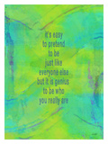 Its Easy To Pretend Giclee Print by Lisa Weedn
