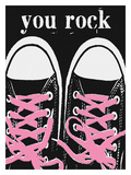 You Rock - Pink Laces Giclee Print by Lisa Weedn
