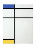 Composition Blue, Yellow and White, 1936 Impression giclée par Piet Mondrian