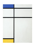 Composition Blue, Yellow and White, 1936 Giclee Print by Piet Mondrian