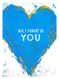 All I Want (Blue) Giclee Print by Lisa Weedn
