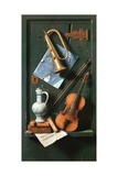 Still Life with Musical Instruments Gicléedruk van William Michael Harnett