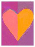 Pink Heart Gicléetryck av Lisa Weedn