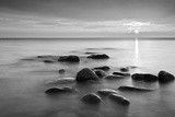 Rocks in Mist Photographic Print by  PhotoINC