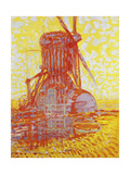 Rote Muehle Im Gegenlicht, 1908 Giclee Print by Piet Mondrian