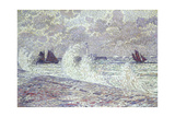 The Sea During Equinox, Boulogne-Sur-Mer, 1900 Gicléetryck av Theo van Rysselberghe