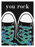 You Rock Blue Giclee Print by Lisa Weedn