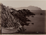 Genova: Fishing Boat on the Beach of Nevi, 1870-80 Photographic Print by August Alfred Noack