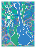 Keep A Song In Your Heart Large Giclee Print by Lisa Weedn