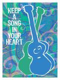 Keep A Song In Your Heart Large Lámina giclée por Lisa Weedn