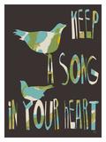 Keep A Song Lámina giclée por Lisa Weedn