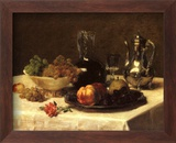 Still Life, Corner of Table Plakat af Victoria Dubourg