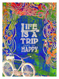 Life Is A Trip Giclee Print by Lisa Weedn