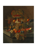 Still Life with Grapes and Fruit Giclee Print by Seymour Joseph Guy