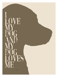 I Love My Dog 2 Giclee Print by Lisa Weedn