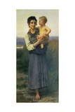 Mother and Child, 1887 Posters by William Adolphe Bouguereau