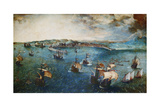 View of the Port of Naples, Ca, 1560 Giclee Print by Pieter Bruegel the Elder