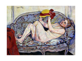 Nude Reaching on a Sofa, 1928 Giclee Print by Suzanne Valadon