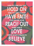 Hold On Have Faith 3 Giclee Print by Lisa Weedn