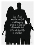 Being A Family (B/W) Giclee Print by Lisa Weedn