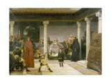 The Education of the Children of Clothilde and Clovis Giclee Print by Sir Lawrence Alma-Tadema