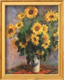 Girasoles Póster por Claude Monet