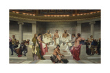 Wall Painting in the Academy of Arts, Paris, 1841 (Middle Part) Giclee Print by Paul Delaroche