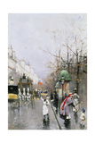 Street in Paris Giclee Print by William Feron