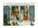 Have a Look, Who Is Coming! Giclee Print by Theodor Kleehaas
