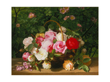 Basket of Roses, 1879 Giclee Print by William Hammer