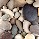 Brown Pebbles Photographic Print