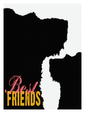 Best Friends (Dogs) Giclee Print by Lisa Weedn